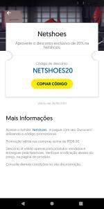 NETSHOES - 20% PAGANDO COM OUROCARD