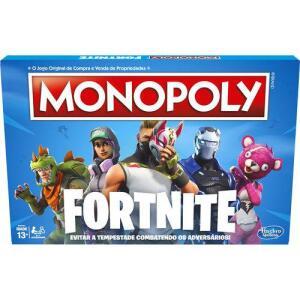 Jogo Monopoly Fortnite E6603 - Hasbro R$ 180