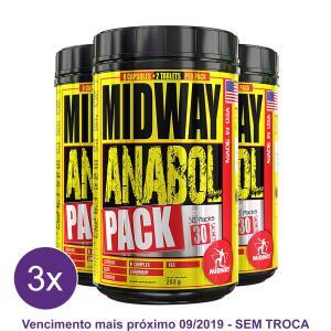 Kit 3x Anabol Pack Pré Treino completo - Midway USA R$50