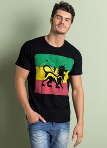 Camiseta c/ Decote Redondo e Estampa Frontal - Tam M | R$20