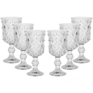 Conjunto de Taças Gotas da Casa Ambiente, 6 Peças, Vidro, 210ml - R$38
