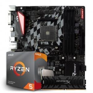Kit Placa Mãe Biostar RACING B350GT3 + Processador AMD RYZEN 5 3600 + MEMÓRIA DDR4 KINGSTON 8GB