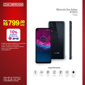 [Loja Física/Lojas Americanas] Motorola One Action XT2013 128GB R$ 799