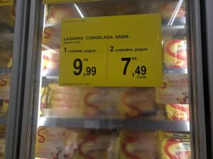 [Loja Física Carrefour] Lasanha Sadia | R$7