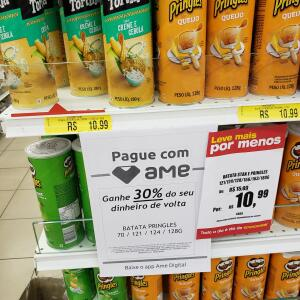 Batata Pringles 30% Volta no Ame