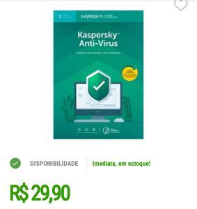 Kaspersky Antivírus 2019 1 PC - Digital para Download   R$30