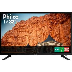 "TV LED 32"" Philco PH32B51DSGWA HD 2 HDMI 2 USB Preta com Conversor Digital Integrado"