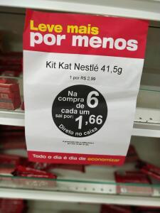 6 kit Kat Nestlé por 10$