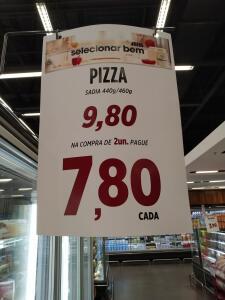 [Loja física - Zaffari/Porto Alegre] Pizza Sadia - Compre duas por R$16