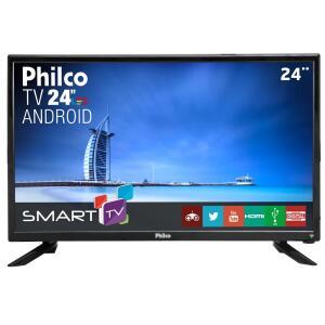 "Smart TV LED 24"" Full HD Philco PTV24N91SA - R$499"