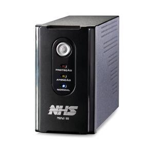 Nobreak NHS Mini III 600VA/300W E.Bivolt / S.220V ou 120V (jumper interno) / Bateria Selada 1 x 7Ah