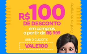 R$100 Off a partir de R$999 na Magazine Luiza
