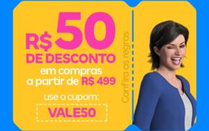 R$50 Off a partir de R$499 na Magazine Luiza