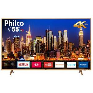 "[CC Sub] Smart TV LED 55"" Philco PTV55F61SNC UHD 4K - R$1.699"