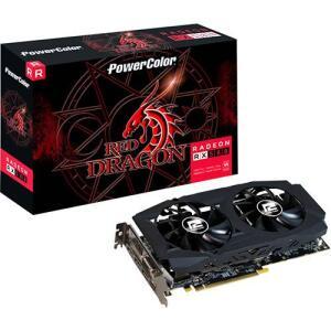 (12X CC SUB) Placa De Video Vga Amd Powercolor Radeon Rx 580 8gb Red Dragon Axrx 580 8gbd5-3dhdv2/oc