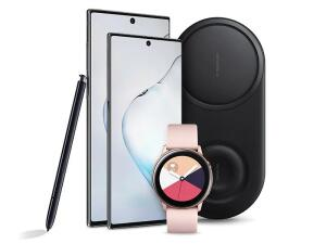 Pré-Venda Galaxy Note10 - Brinde Galaxy Watch Active e Carregador Duplo sem fio