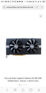 Placa de Video Sapphire Radeon RX 580 4GB GDDR5 Nitro+ 256-bit, 11265-07-20G