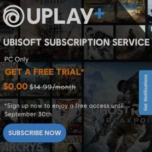 1 mês grátis de Uplay Plus