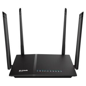 Roteador Wifi D-link Ac 1200mbps Dual Band 4 Antenas 5 Dbi Gigabit 10/100/1000 Ipv6 Wps - Dir-825