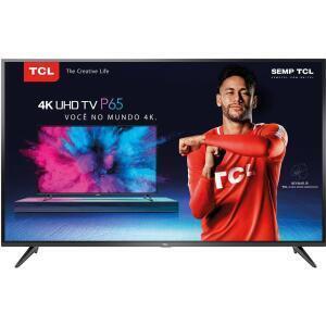 """Smart TV LED 55"""" TCL UHD 4K HDR 55P65US - R$1923"""