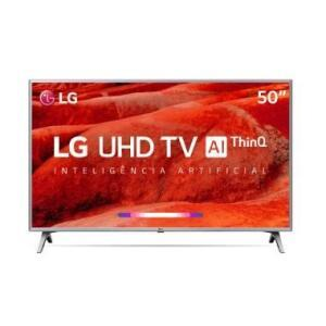 "Smart TV 50"" LG ThinQ AI 4K 50UM7500 + Controle Smart Magic   R$1.966"
