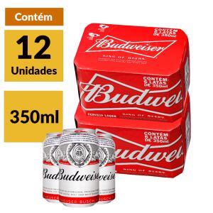 Cerveja Budweiser 350ml caixa com 12 unidades | R$29