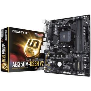 Placa-Mãe Gigabyte GA-AB350M-DS3H V2, AMD AM4, mATX, DDR4 | R$350