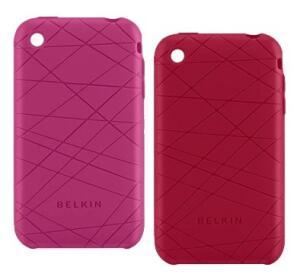 [Pague 1 leve 2] Kit capa para iPhone 3G - Belkin Vector Duo Rosa e Vermelho - R$1