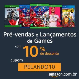 10% OFF em Pré-vendas e Lançamentos de Games