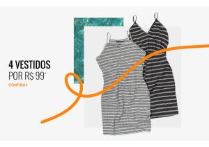 4 vestidos por R$99 na Kanui