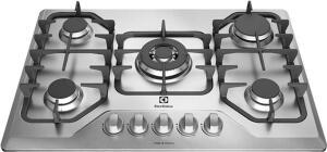 Cooktop a Gás 5 Bocas Electrolux GF75X Queimador Tripla Chama R$759