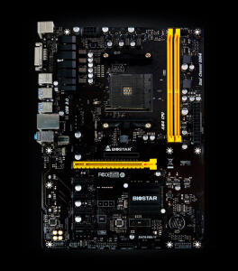 PLACA MÃE BIOSTAR PRO TB350-BTC, CHIPSET B350, AMD AM4, ATX, DDR4   R$319