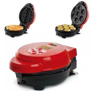 Máquina Cupcakes Omeleteira E Waffle Mickey Mallory 5 Em 1 - R$165