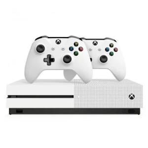 Console Microsoft Xbox One S 1TB + 2 Controles sem Fio Branco - R$1.331