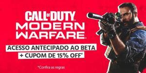 Acesso Beta - Call of Duty Moderno Warfare + Cupom 15% OFF