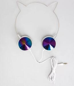Fone de Ouvido Gato Holográfico