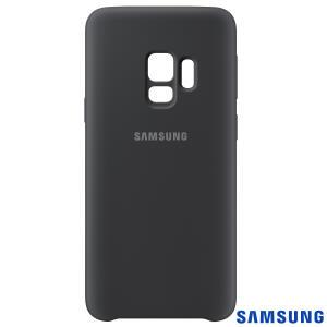 [Retirar em loja física] Capa para Galaxy S9 Silicone Cover Preta - Samsung - EF-PG960TBEGBR
