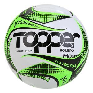 Bola de Futebol Society Topper Boleiro 2019 Exclusiva - Verde e Branco R$40