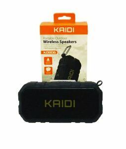 Caixa de som portátil Kaidi, wireless, FM, TF card, a prova de água - R$22