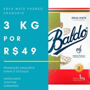 E R V A padrão URUGUAIO BALDO R$43!! ATÉ DIA 11/09 na americanas!!!