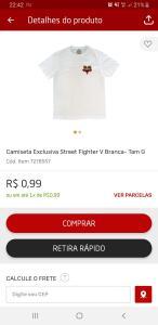 Camisa Street Fighter V Correee
