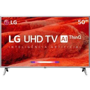 "TV LED 50"" LG Smart TV UM7500 4K 4 HDMI 2 USB 60Hz | R$1994"