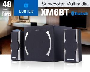 Caixa de Som com Bluetooth, Aux, USB e cartão SD EDIFIER XM6BT 48W RMS | R$499