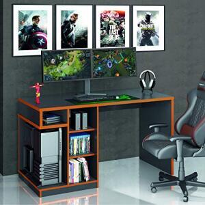 Mesa Gamer IDL XP 500 Siena Móveis Preto/Laranja | R$248
