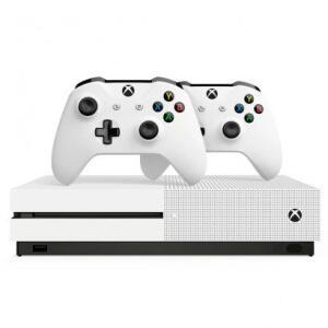 Console Microsoft Xbox One S 1TB + 2 Controles sem Fio Branco R$1.340