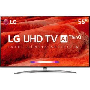 Smart TV LED LG 55'' 55UM7650 Ultra HD 4K | R$2.430