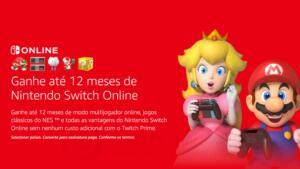 01 Ano de Assinatura Nintendo Switch Online GRÁTIS - Assinantes Amazon/Twich Prime