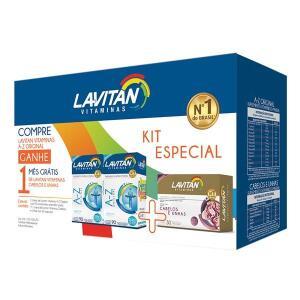 Kit Lavitan AZ Mais 180 Comprimidos Grátis Hair 30 Comprimidos - R$30