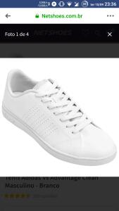 Tênis Adidas Vs Advantage Clean Masculino - Branco 129,99