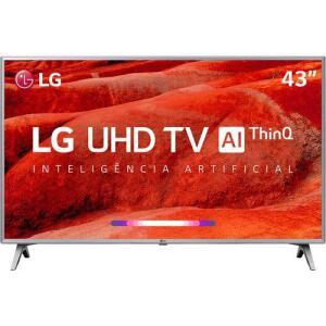 [CC Shop] Smart TV Led 43'' LG 43UM7500 Ultra HD 4K Thinq AI Conversor Digital Integrado 3 HDMI 2 USB Wi-Fi com Inteligência Artificial